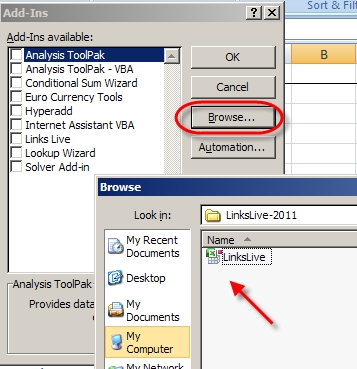 Make Links Live - Excel | SEO Automatic
